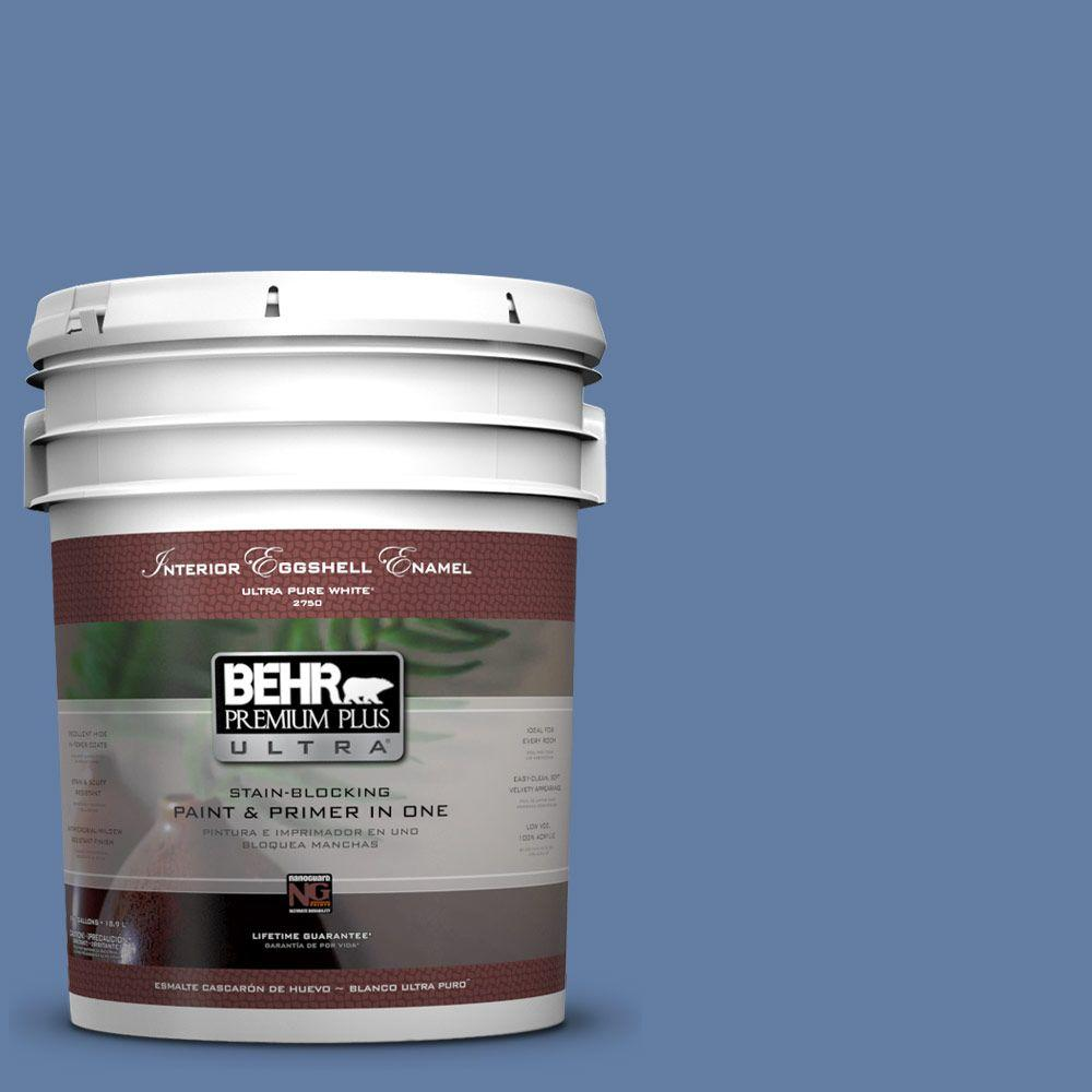 5 gal. #600D-6 Blueberry Patch Eggshell Enamel Interior Paint and Primer