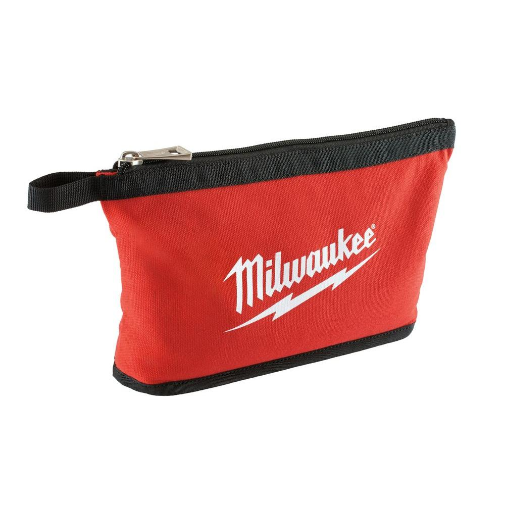 "Milwaukee M12 12/"" x 6/"" x 3/"" Contractor Tote Tool Bag Red Little Case"