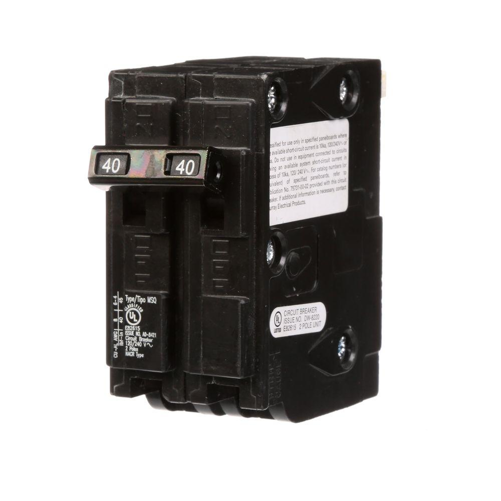 40 Amp Double-Pole Type MSQ QO Replacement Circuit Breaker