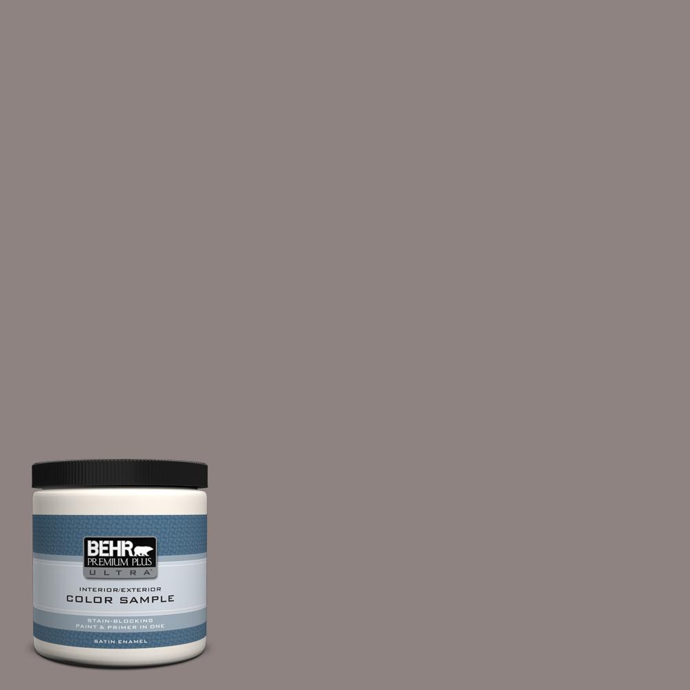 Behr Ultra 8 Oz Home Decorators Collection Hdc Cl 22g Roanoke Taupe Satin Enamel Interior Exterior Paint Primer Sample