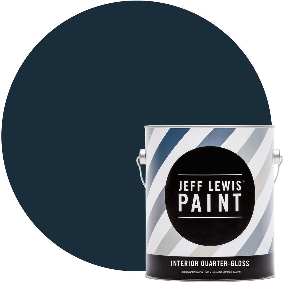 Jeff Lewis 1 gal. #316 Ink Blot Quarter-Gloss Interior Paint