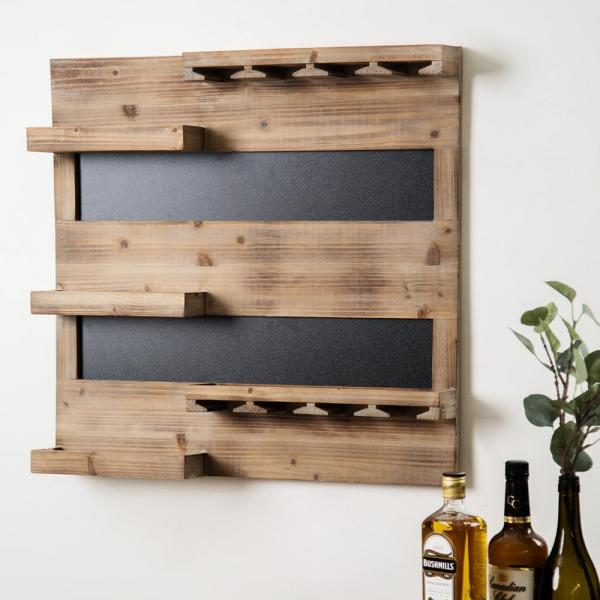 HOME ESSENTIALS & BEYOND 27 in. L Reclaimed Wood Wall Bar
