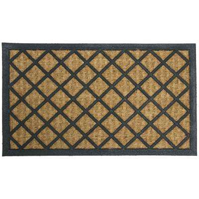 Alexandria 18 in. x 30 in. Coir/Rubber Backed Mat