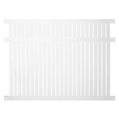 Hanover 5 ft. H x 6 ft. W White Vinyl Pool Fence Panel