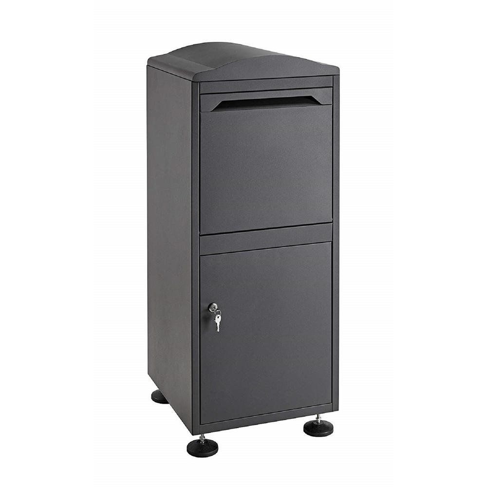 AdirOffice Black Free-Standing Steel Secured Parcel Drop Box