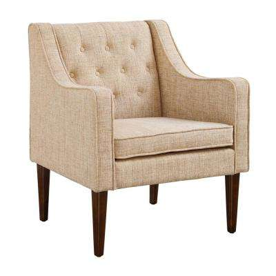 Mavis Dark Walnut Tufted Back Chair
