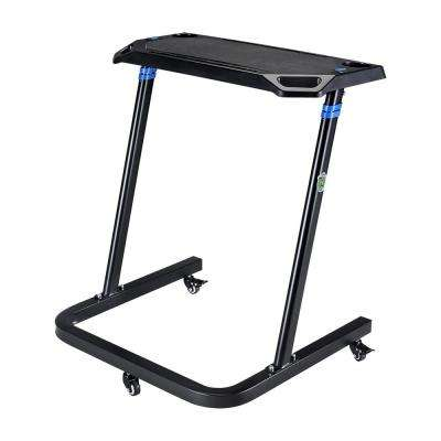 Black Portable Fitness Desk with Adjustable Height