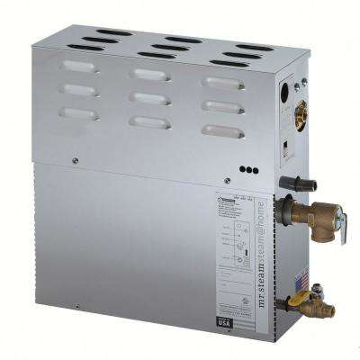 6kW Steam Bath Generator with Steam Start Control and Steam Head in Polished Chrome