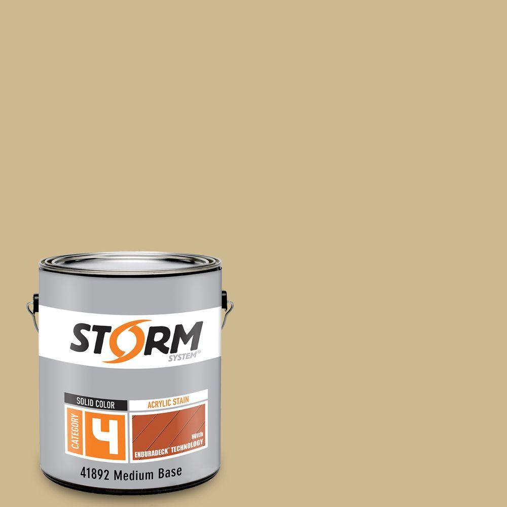 Storm System Category 4 1 gal. Santa Barbara Exterior Wood Siding, Fencing and Decking Acrylic Latex Stain with Enduradeck Technology