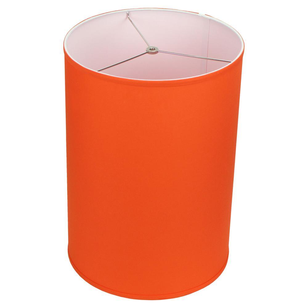 14 in. Top Diameter x 14 in. Bottom Diameter x 20 in. Height Linen Carrot Drum Lamp Shade