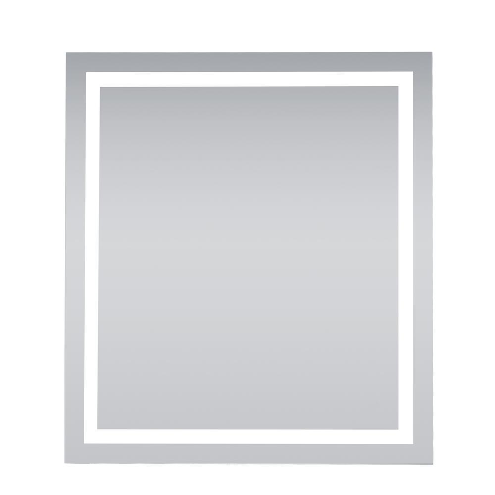 Timeless 36 in. W x 40 in. H Framed Rectangular LED Light Bathroom Vanity Mirror in Silver