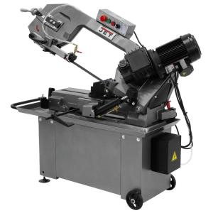 JET 1 HP 8 inch x 14 inch Geared Head Metalworking Horizontal Band Saw with Closed Stand, 3-Speed,... by JET