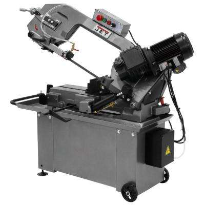 1 HP 8 in. x 14 in. Geared Head Metalworking Horizontal Bandsaw with Closed Stand, 3-Speed, 115/230-Volt, HBS-814GH