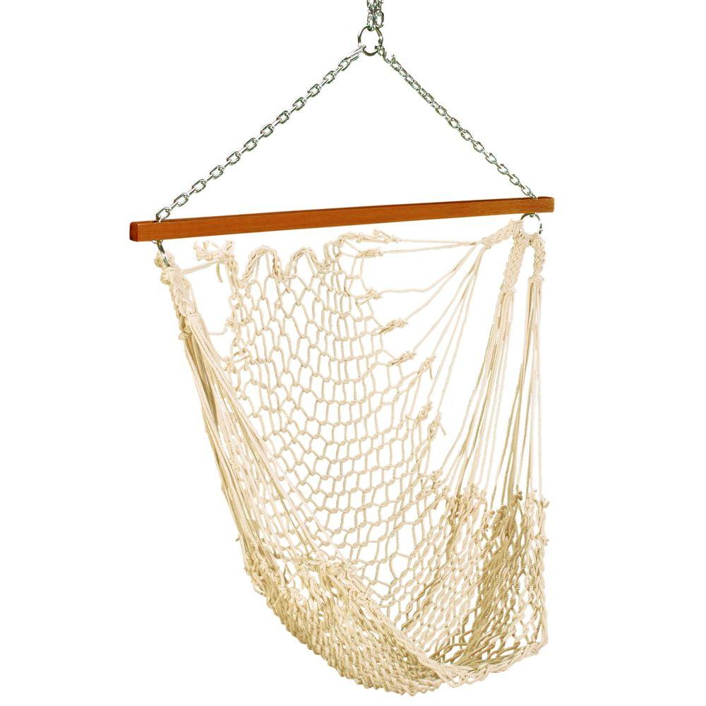 Single Rope Hammock Swing White