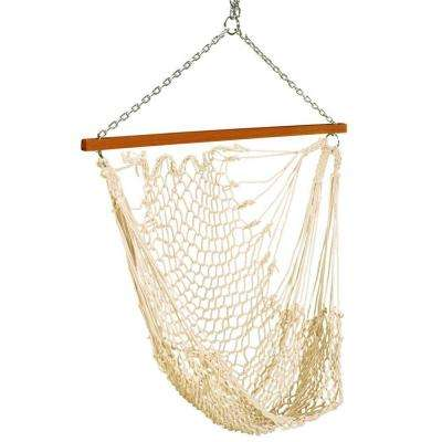 2 ft. Single Rope Hammock Swing White
