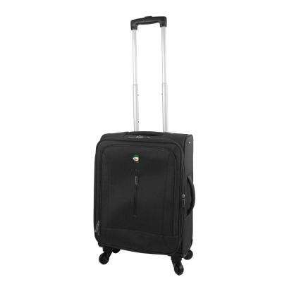 Tena 20 in. Black Carry-On Soft Side Spinner Suitcase
