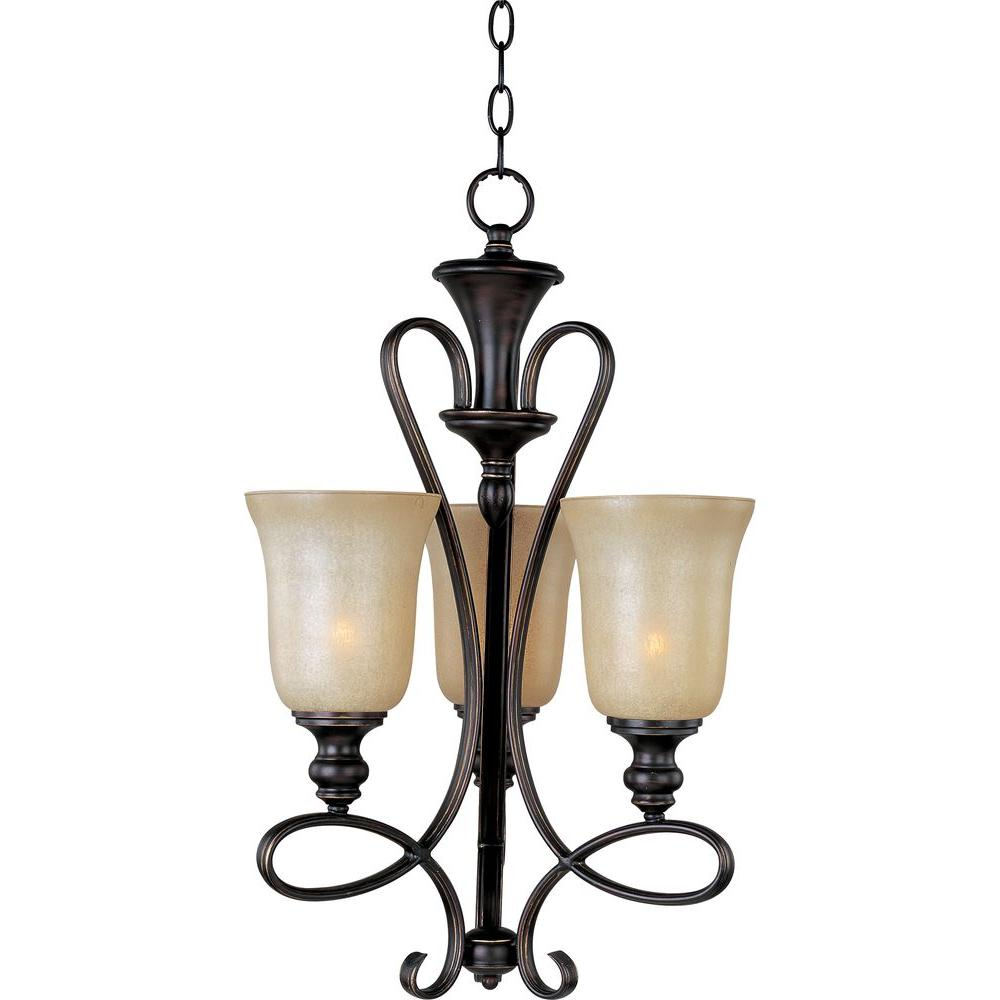 Maxim Lighting Infinity 3 Light Oil Rubbed Bronze Mini Chandelier