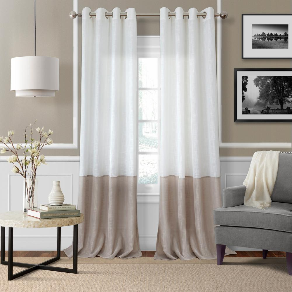 Elrene Melody Color Block Semi-Sheer Window Curtain