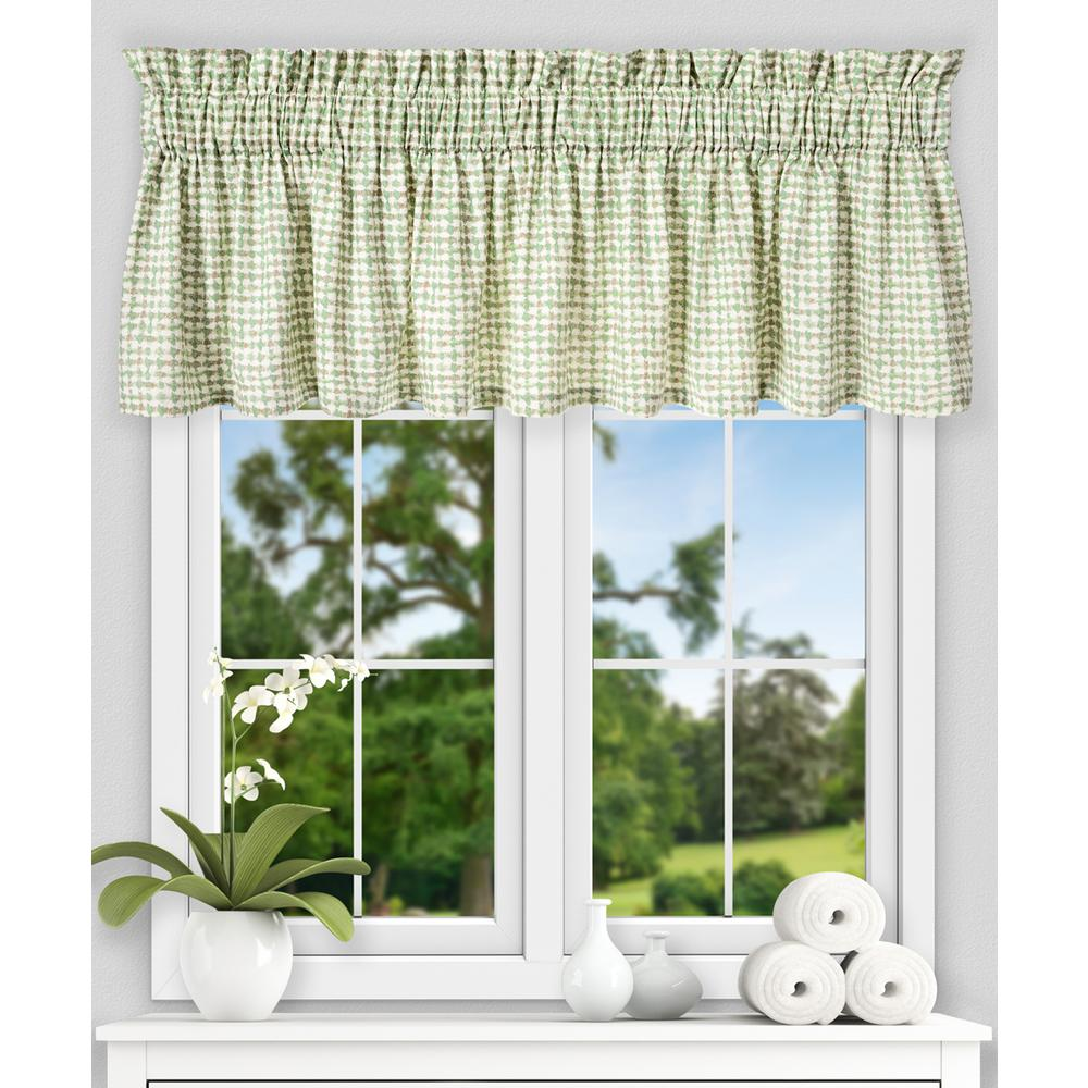 Davins 15 in. L Cotton Twill Tailored Valance in Spa