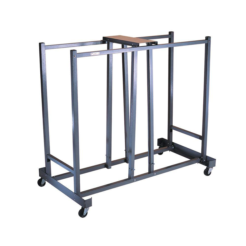 Go Home Black Industrial Kitchen Cart At Lowes Com: Lifetime Commercial Chair Cart In Silver-6525