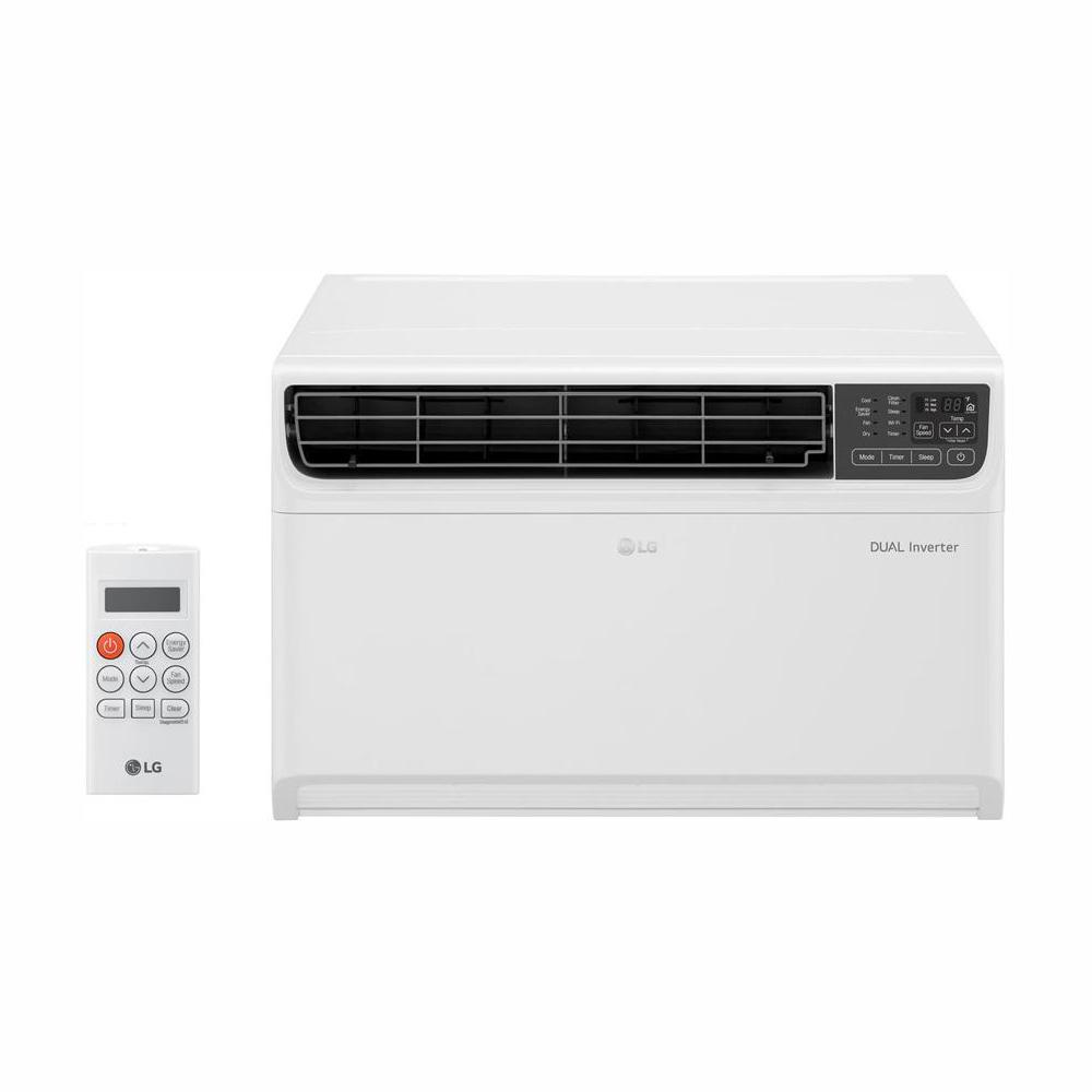 LG Electronics 14,000 BTU 115-Volt Dual Inverter Smart Window Air  Conditioner in White with Wi-Fi Enabled and Remote