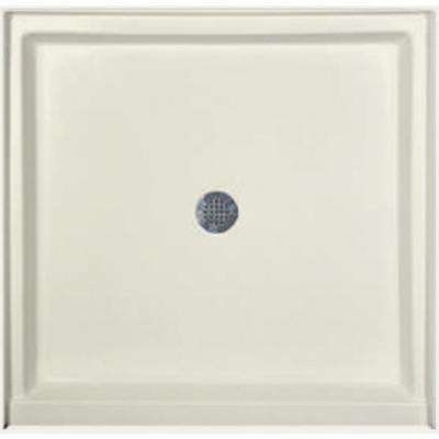 36 in. x 34 in. Single Threshold Shower Base in Biscuit