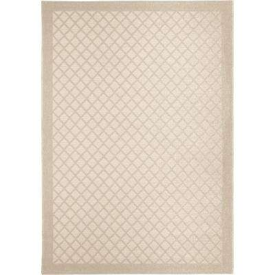 Across the Pier Ivory 5 ft. x 8 ft. Indoor/Outdoor Area Rug