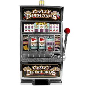 Trademark Games Crazy Diamonds Slot Machine Bank 10 41740