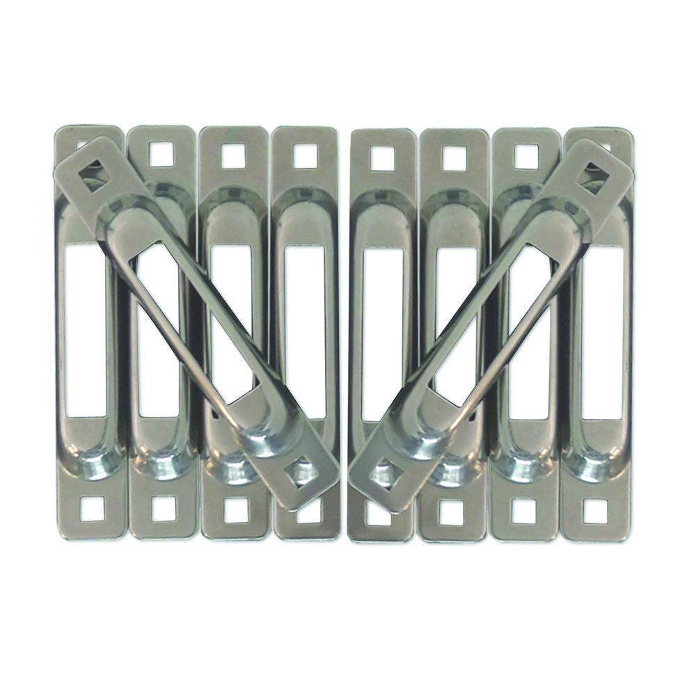 E-Track Single Strap Anchor in Stainless Steel (10-Pack),...
