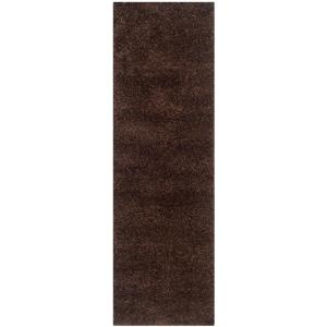 California Shag Brown 2 ft. x 7 ft. Runner Rug