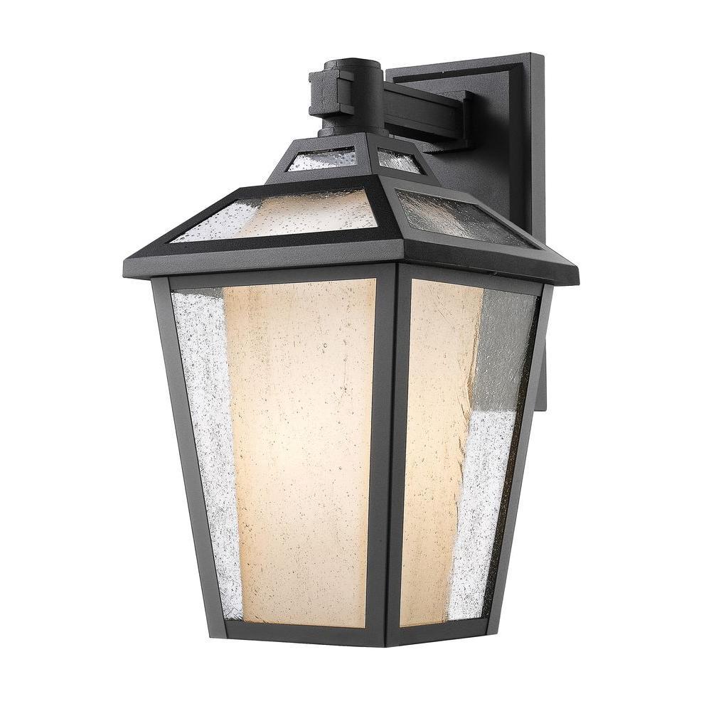 Arnett 1-Light Black Outdoor Sconce