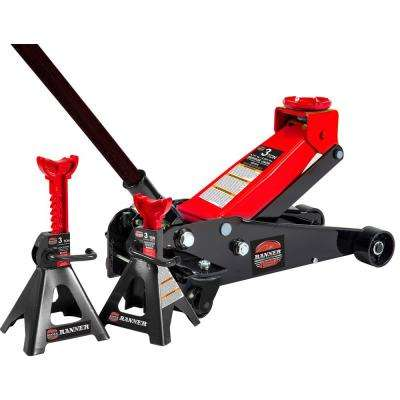 3-Ton Garage Jack with 3-Ton Jack Stands