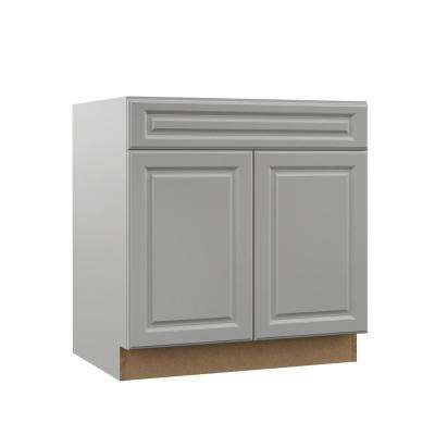 Elgin Assembled 33x34.5x23.75 in. Base Kitchen Cabinet in Heron Gray