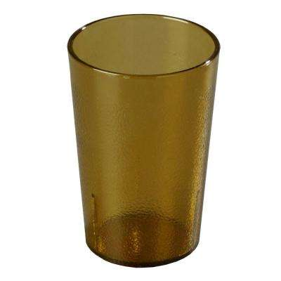 8 oz. SAN Plastic Stackable Tumbler in Amber (Case of 72)