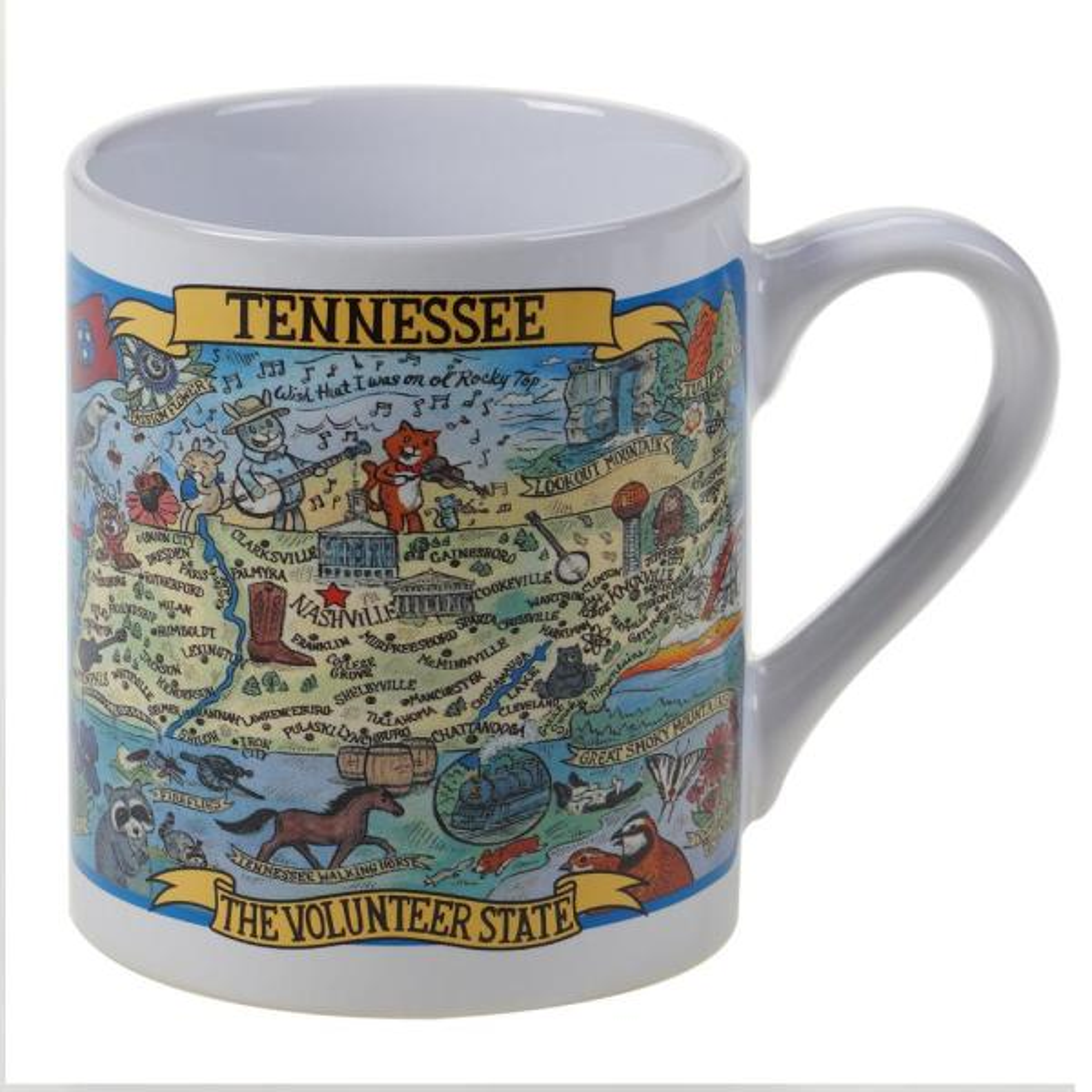 Tennessee Souvenir 20 oz. Multicolored Stoneware Jumbo Mug (Set of 6)