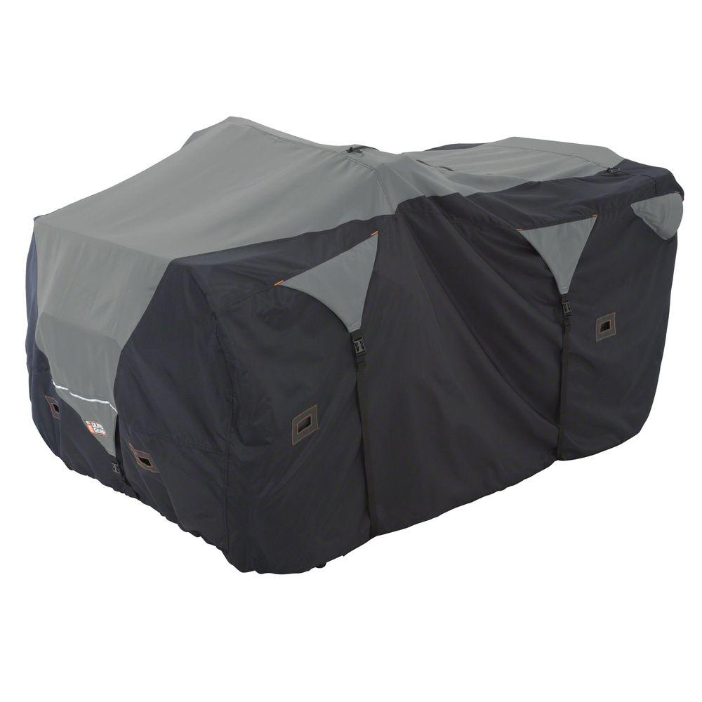 Classic Accessories X-Large ATV Deluxe Storage Cover in Black/Grey