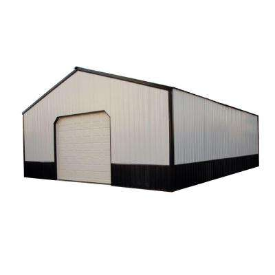 Anniston 24 ft. x 30 ft. x 9 ft. Wood Pole Barn Garage Kit without Floor