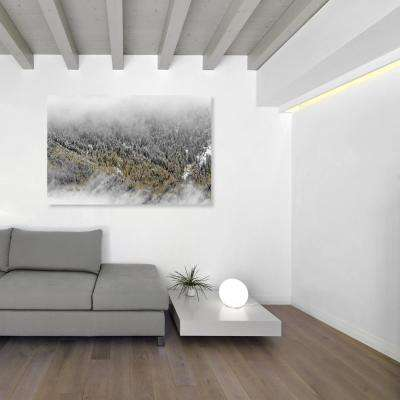 36 in. x 24 in. 'Overhead Golden Forest' by Oliver Gal Printed Framed Canvas Wall Art