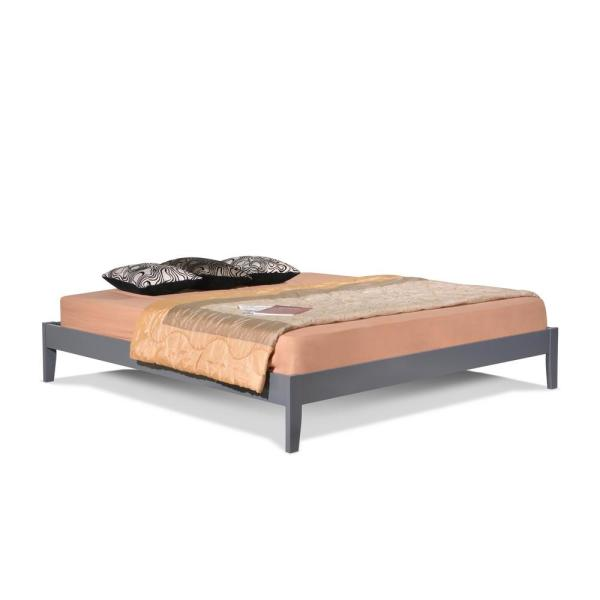 Altozzo Manhattan Queen Wood Platform Bed ALT-Q3342-GRY