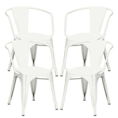 Cantina White Arm Chair (Set of 4)