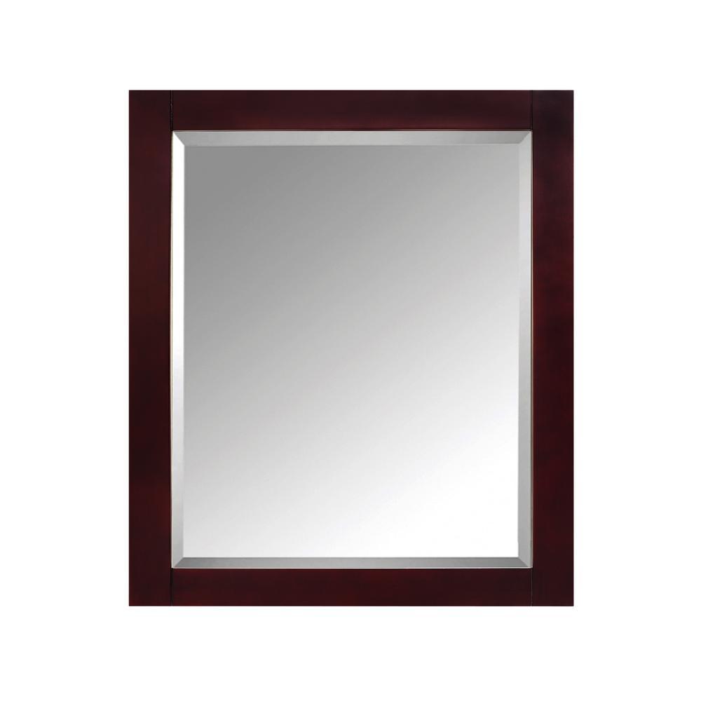 Modero 28 in. W x 36 in. H x 6-1/4 in. D Framed Surface-Mount 2-Shelf Bathroom Medicine Cabinet in Espresso
