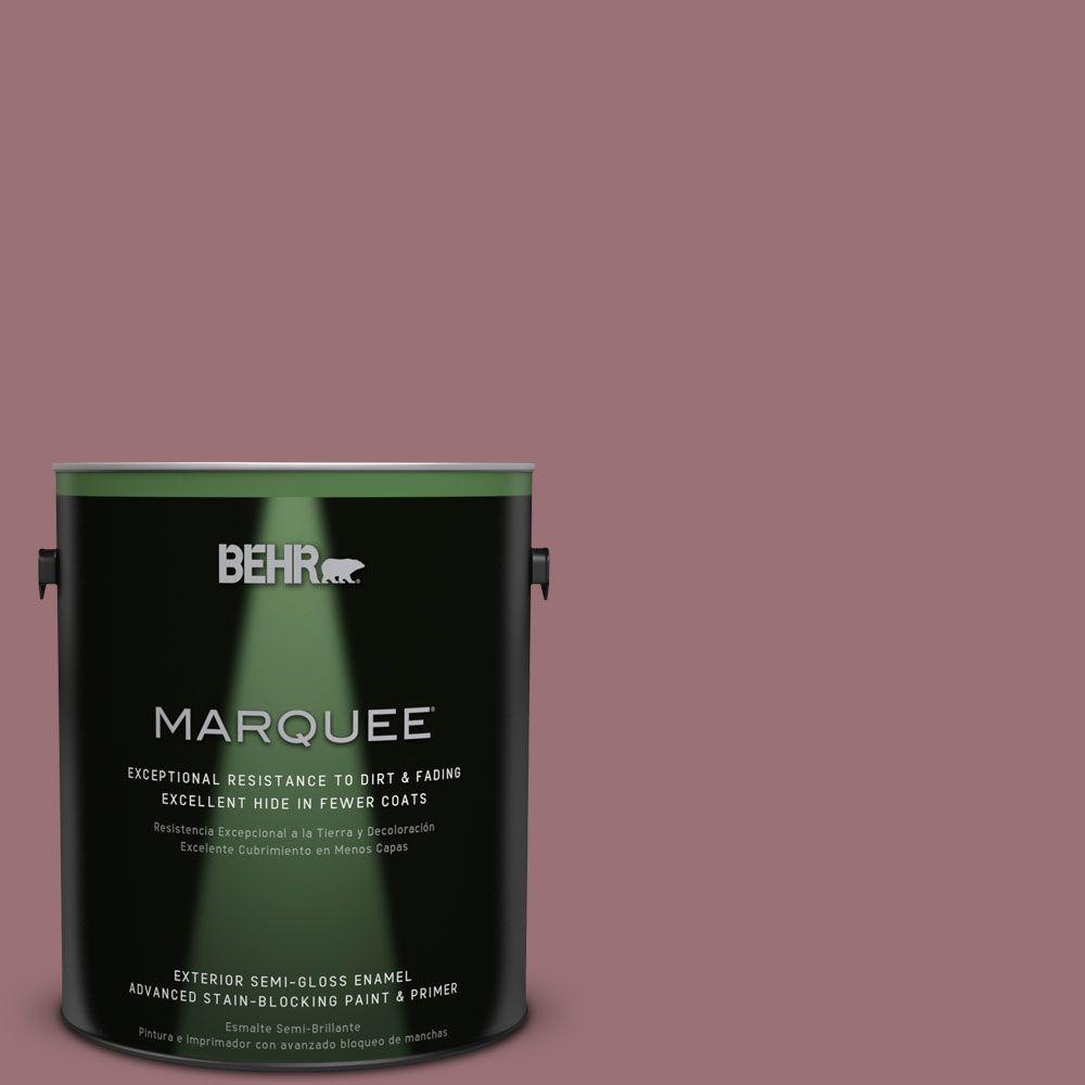 BEHR MARQUEE 1-gal. #QE-05 Regal Rose Semi-Gloss Enamel Exterior Paint