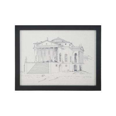 "20 in. x 26 in. ""Villa Rotunda"" Hand Painted Framed Wall Art"