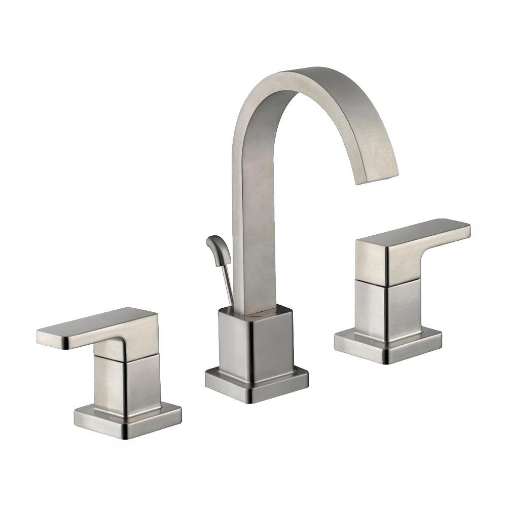 Glacier Bay Marx 8 in. Widespread 2-Handle High-Arc Bathroom Faucet in Brushed Nickel