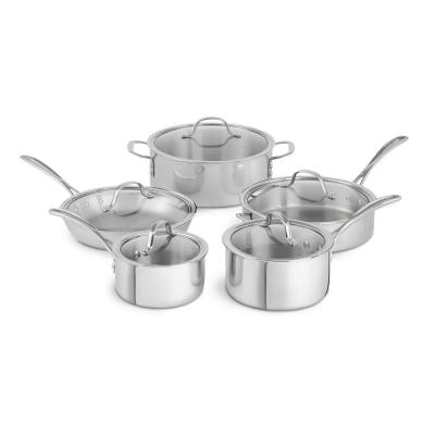 Tri-Ply 10-Piece Stainless Steel Cookware Set