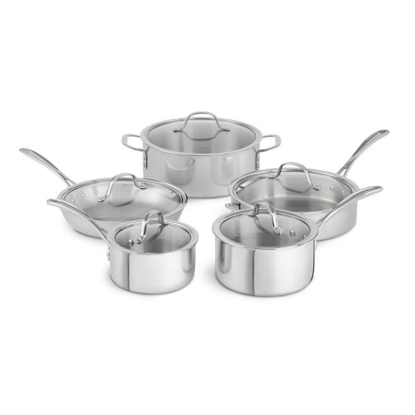Calphalon Tri-Ply 10-Piece Stainless Steel Cookware Set 1874301