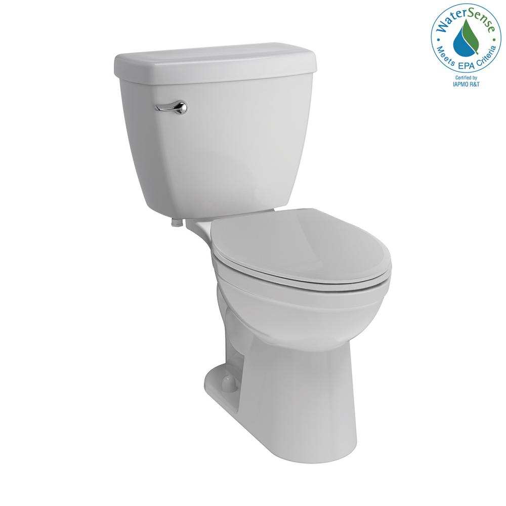 Delta Delta Foundations 2-piece 1.28 GPF Single Flush Elongated Toilet in White