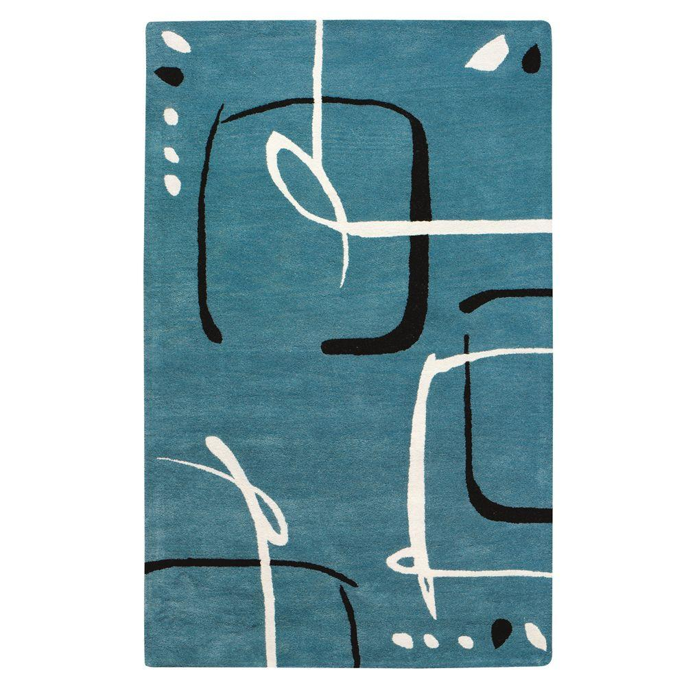 Home Decorators Collection Fragment Aegean Blue 5 ft. 3 in. x 8 ft. Area Rug