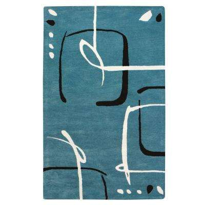 Fragment Aegean Blue 5 ft. x 8 ft. Area Rug