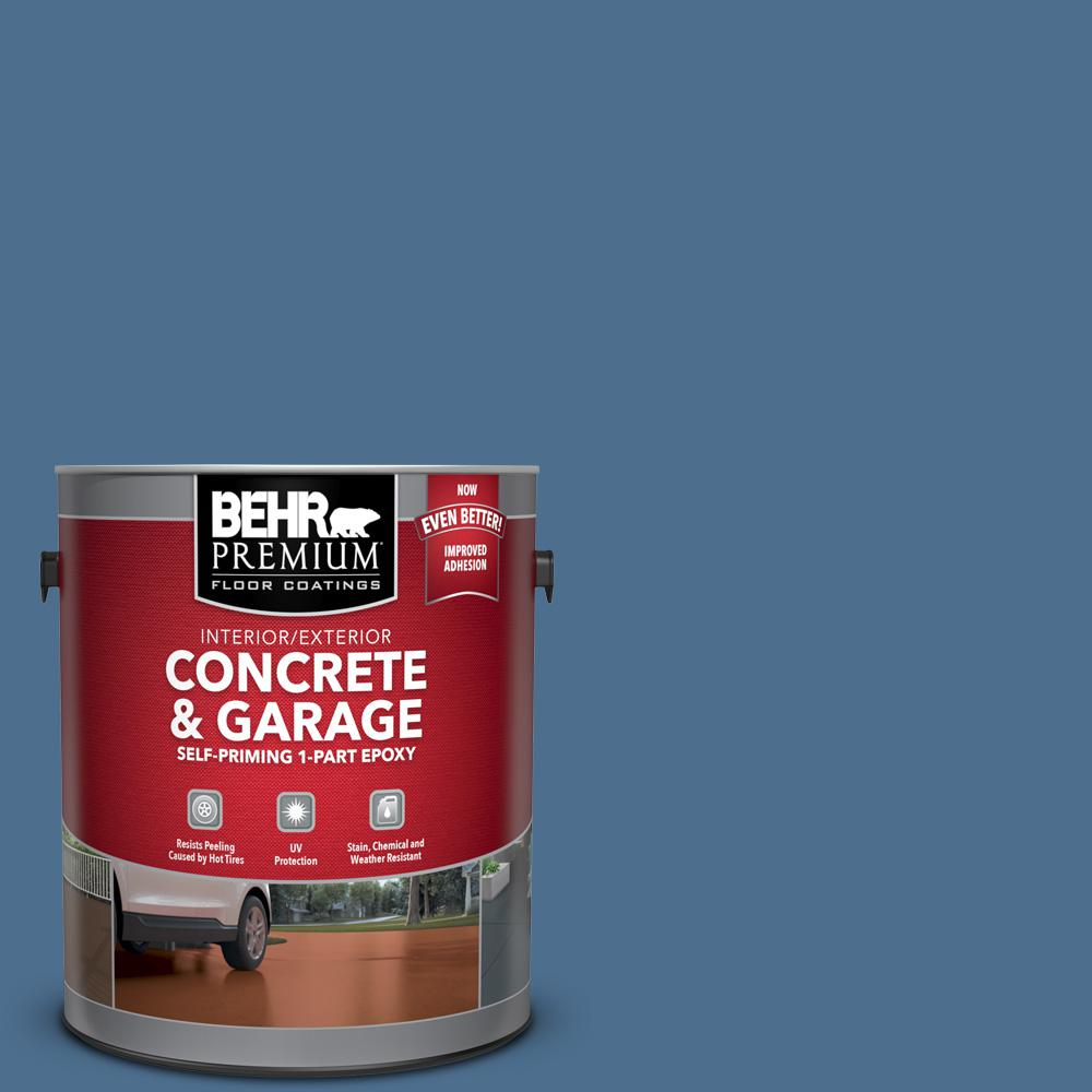 BEHR PREMIUM 1 gal. #PPF-47 Porch Song Self-Priming 1-Part Epoxy Satin Interior/Exterior Concrete and Garage Floor Paint